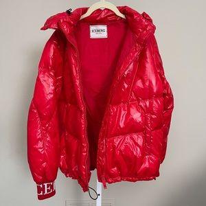 Iceberg glossy red jacket